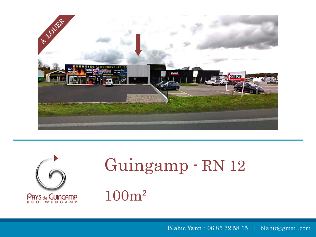 local commercial a louer RN 12 guingamp